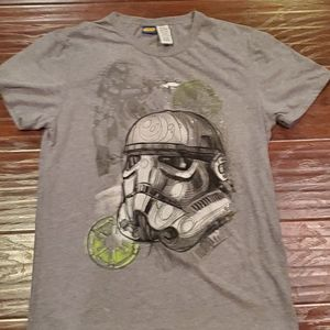 Star Wars Storm Trooper T Shirt. Gray Large